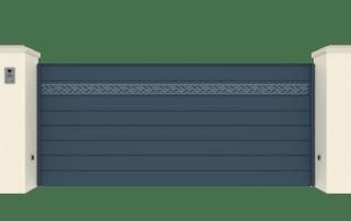 Portail Coulissant Gamme Horizon Modèle Collection Rope