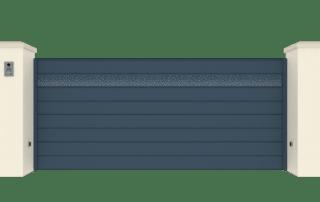 Portail Coulissant Gamme Horizon Modèle Collection Crackle